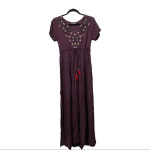 Purple Earthbound short sleeve maxi dress medium